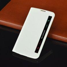 Slim Tas Pelindung Ponsel Smart View Auto Tidur Flip Cover Pu Sarung Pelindung Kulit untuk LG K10 u