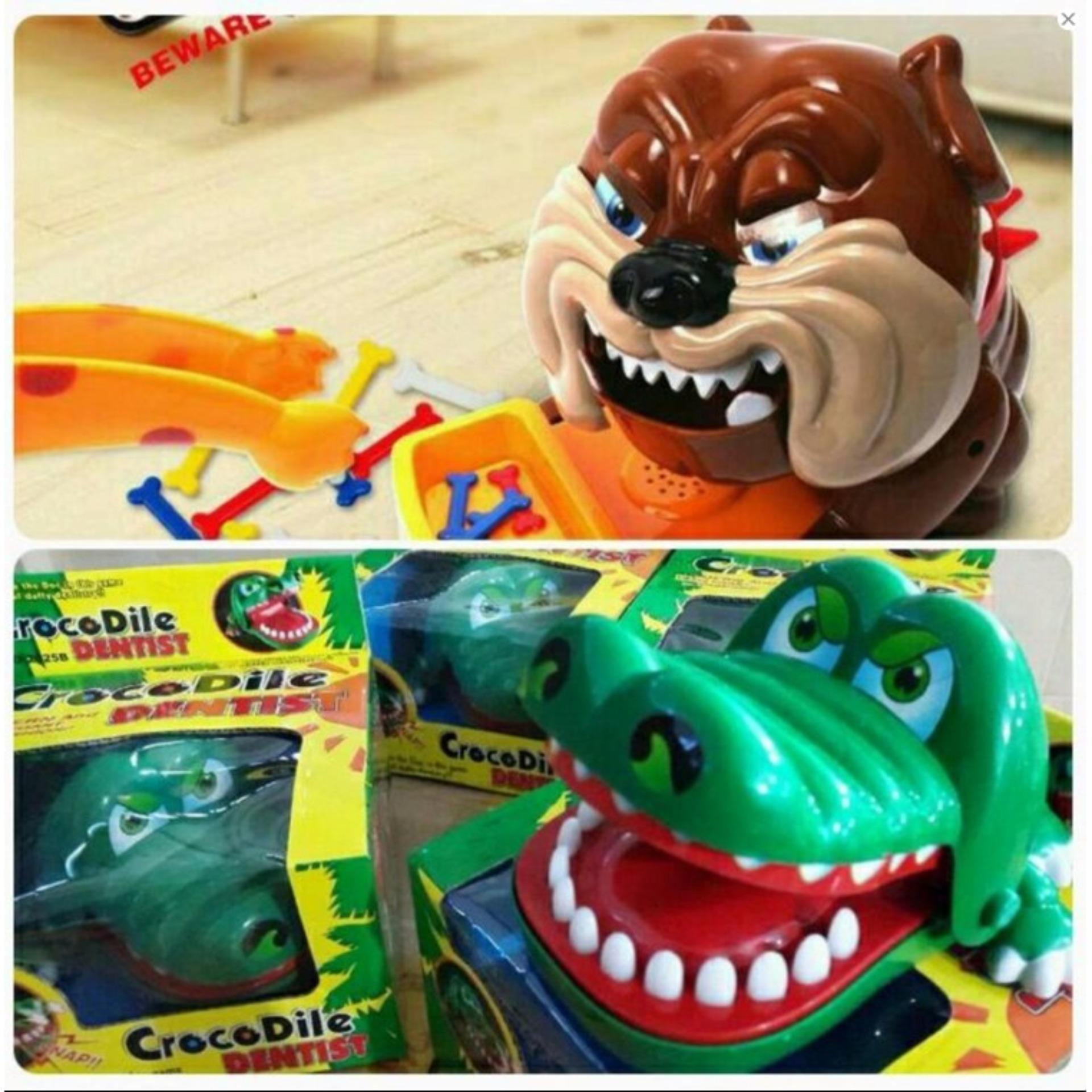 Sloof King Pirate Roulette Game Crocodile Dentist Bad Dog 3 In 1 Packet Asli