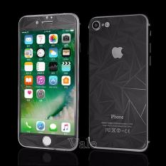 Beli Sloof Tempered Glass Mirror 3D Diamond Front Back Iphone 7 7S Hitam Online Terpercaya