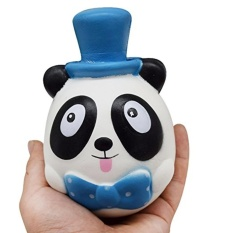 Diskon Slow Rising Squishy Squishies Panda Kucing Mainan Krim Scented Hand Wrist Toy Stress Relief Ponsel Mantra Blue Intl