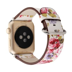 Beli Small Floral Leather Strap Replacement Watch Band For Apple Watch 38Mm Intl Not Specified Dengan Harga Terjangkau