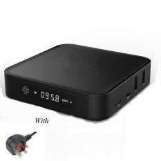 Smart Kotak TV 4 K HD 2 GB Ram + 8 GB Quad Core Android TV Box Wifi Kodi Bluetooth 4.0 Set-Top Box TV Android 5.1 Stick EU. KITA. UKWith LED Display-Intl