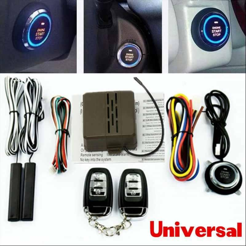 Smart Car Security System Pasif Keyless Entry Kunci Otomatis atau Membuka Mobil Botton-Intl