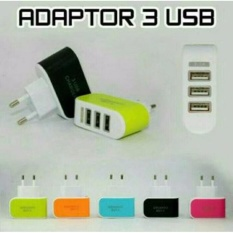 smart charger batok adaptor usb 3 in 1 fast charging cas casan kepala travel adaptive BONUS GRATIS