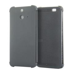 Smart Flip Dot View Case dengan Fungsi Tidur dan Bangun untuk HTC One E8 (Grey) -Intl