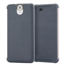 Smart Flip Dot View Case dengan Fungsi Tidur dan Bangun untuk HTC One E9 + (Grey)