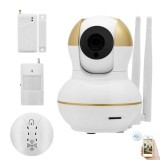 Jual Smart Home Wifi Alarm Kit Video Monitor Wireless Security Ip Camera System 720P Door Sensor Surveillance Motion Smoke Detector Intl Original