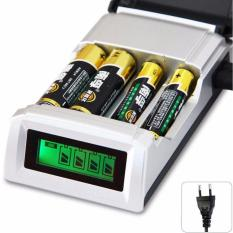Smart Intelligent LCD 4 Slot Charger Baterai For AA AAA Nimh Nicd