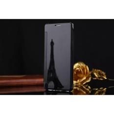 Tidur Nyenyak Cermin Flip Case Cover Untuk LG V10 (Hitam)-Intl