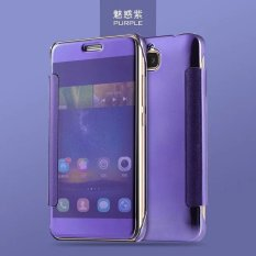 Smart Sleep Mirror Leather Case Cover For Huawei Honor 5C (Purple) - intl