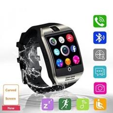 Smart Watch, Bluetooth Smartwatch Sweatproof Ponsel SIM 2g GSM dengan Kamera Dukung Monitor Tidur Pesan PUSH Anti Hilang untuk Android HTC Sony Samsung LG Google dan IPhone Smartphone (Q18 Hitam) -Intl
