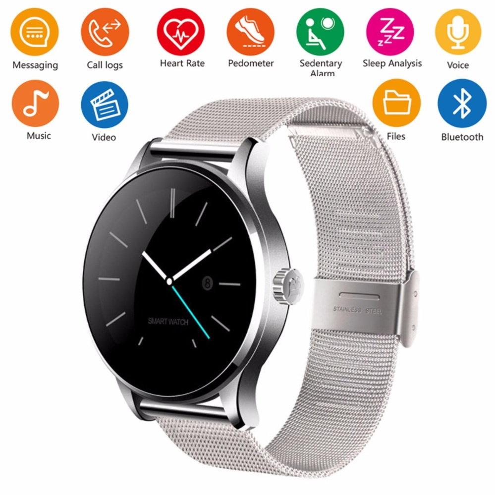 Smart Watch IPS Layar Penopang Monitor Denyut Jantung MP3 Video Bluetooth Kebugaran Tracker SmartWatch K88H untuk IOS Android Phone- INTL