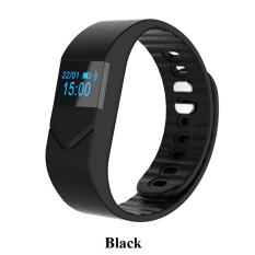 Smart Watch M5 Layar Sentuh OLED Heart Rate Monitor Pedometer Kebugaran Darah Oksigen Gelang Gelang untuk IPhone Android Samsung-Hitam- INTL