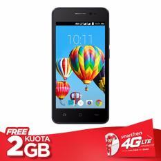 Smartfren Andromax B Smartphone - Black [8 GB/ 1 GB] + Free Perdana Kuota 30gb setahun + pulsa 60k