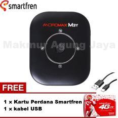 Smartfren Andromax M3Y Mifi / Modem Wifi 4GLite - Black + Free Kabel USB + Kartu Perdana Smartfren