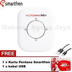 Smartfren Andromax M3Y Mifi / Modem Wifi 4GLite - Putih/White + Free Kabel USB + Kartu Perdana Smartfren
