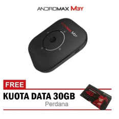 Smartfren Modem Mifi Andromax M3Y 4G LTE Hitam + Free Perdana Kuota 30 GB