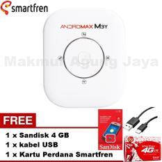 Smartfren Modem MiFi Andromax M3Y White/Putih + Free Kartu perdana Smartfren + Free Kabel USB + Free Sandisk 4GB