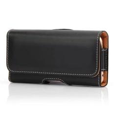 Kasus Smartphone Premium Horisontal PU Kulit Pouch dengan Belt Loops CLIP untuk Lenovo VIBE K5 Cell Phone- INTL