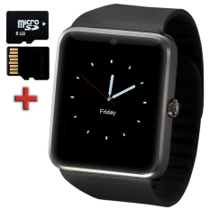 SmartWatch GT08 Elektronik Smartwatch Call Pengingat Passometer SIM Kartu untuk IPhone IOS Android Ponsel + Mirco-sd 8 GB