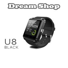 smartwatch u8 ios android bluetooth ios |  Jam Tangan Awet Terbaru Rubber Strap - Warna Hitam | Dream Shop