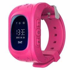 """Selai Pintar Gelang Alarm Anti Hilang Jam Pelacak GPS Bandung Photo: """"SOS Darurat GSM Aplikasi Ponsel Pintar For IOS And Androi (berwarna Merah Muda)"""