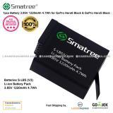 Diskon Smatree Battery 3 85V 1220Mah 4 7Wh 1Pcs Original For Gopro Hero6 Black Gopro Hero5 Black Smatree