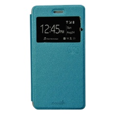 Smile Flip Cover Case Infinix Hot4 X557  - Biru Muda