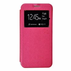 Smile Flip Cover Case Oppo R7 / R7 Lite - Hot Pink