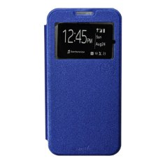 Iklan Smile Flip Cover Case Untuk Asus Zenfone Go Mini Zc451Tg Biru Tua
