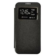 Smile Flip Cover Case untuk Oppo Mirror 3 R3001 - Hitam