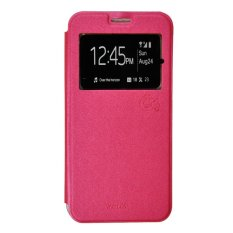 Promo Smile Flip Cover Case Untuk Oppo Mirror 3 R3001 Hot Pink Smile