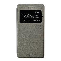Jual Smile Flip Cover Case Untuk Samsung Galaxy Grand 3 Abu Abu Smile