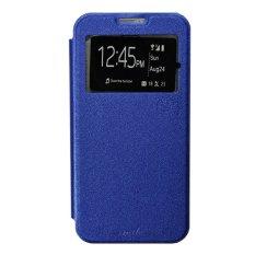 Jual Smile Flip Cover Case Untuk Samsung Galaxy Young 2 Biru Tua Murah Di Dki Jakarta