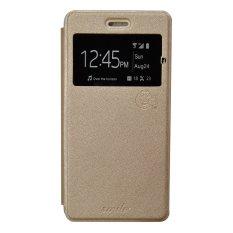 Jual Beli Smile Flip Cover Case Untuk Vivo Y35 Gold Di Dki Jakarta