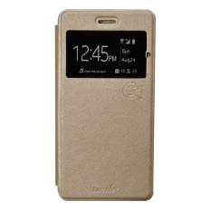 Smile Flip Cover Case Vivo Y15 - Gold