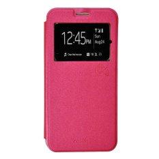 Smile Flip Cover Samsung Galaxy J2 Prime - Hot Pink