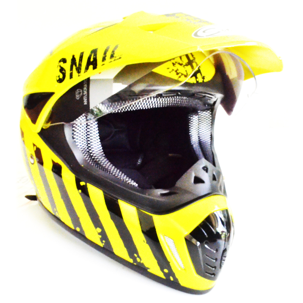 Jual Snail Helmet Motocross Single Visor Mx 310 Limited Edition Motif Kuning Snail Grosir
