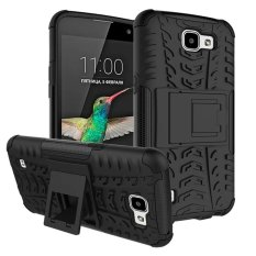 Snap-on Anti-slip PC + TPU Hibrida Case With Kickstand For LG K4 (Hitam) -Intl