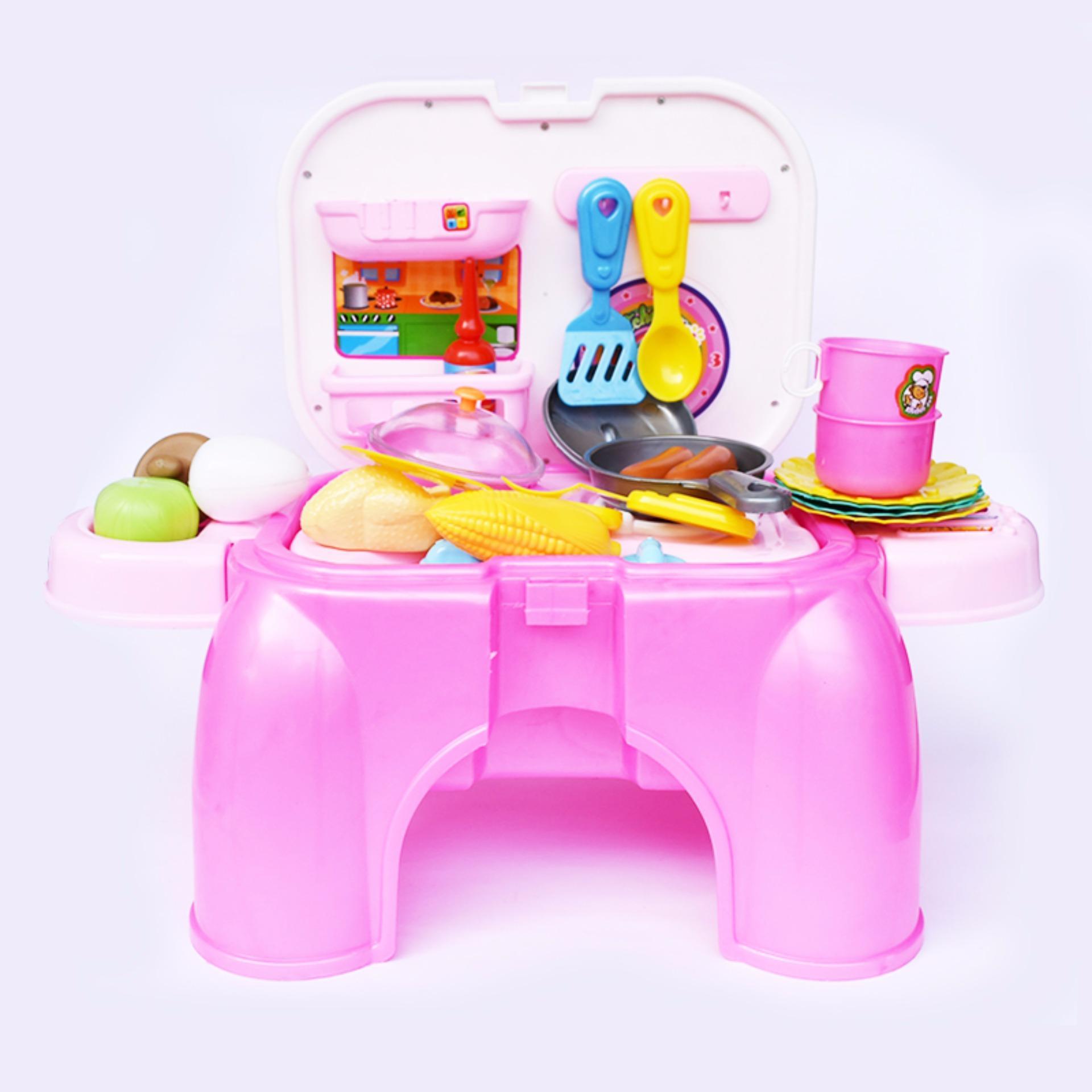 SNETOYS - Mainan Kitchen Set , Mainan Masak-masakan, lengkap dengan Tungku dan Peratalan dapur