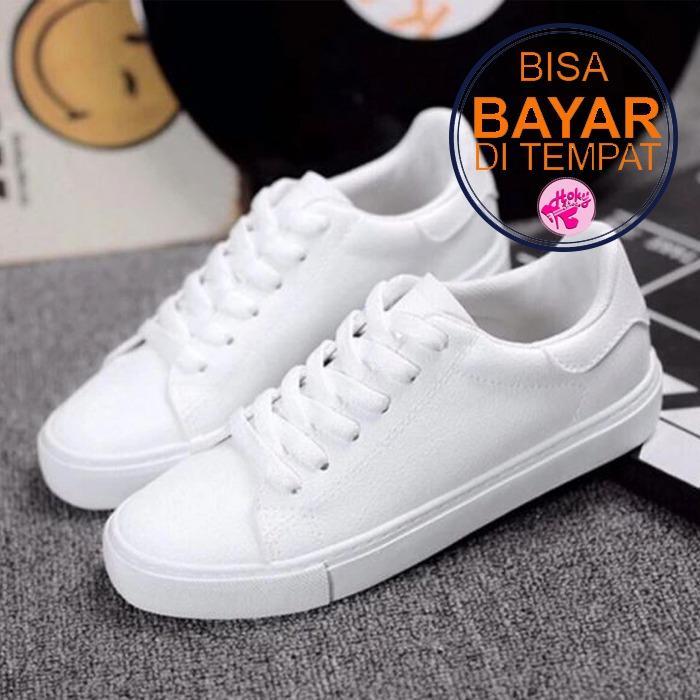 Sneakers / Sepatu Kets Wanita Polos - Putih