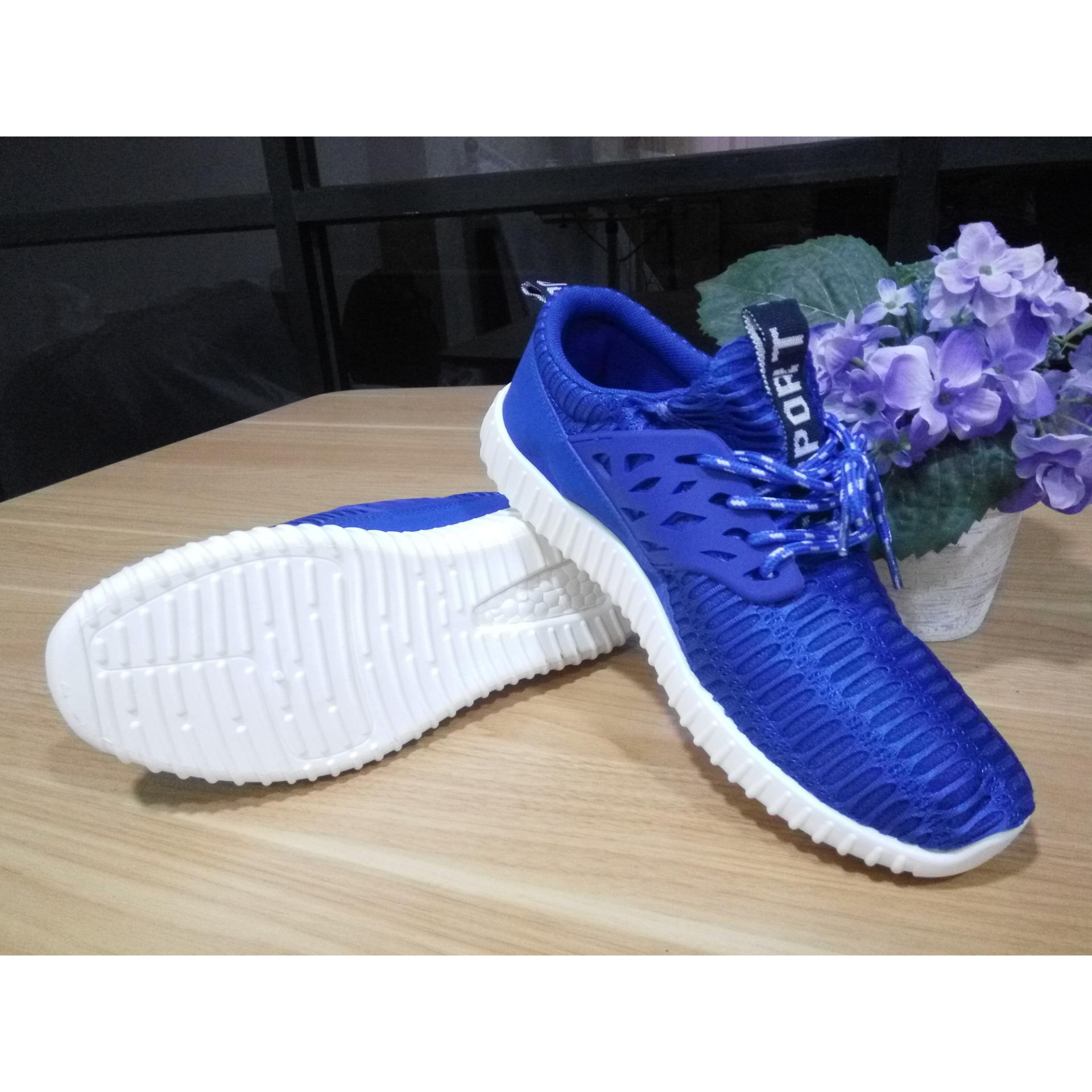 Jual Sneakers Pria Import Korea Blue Original