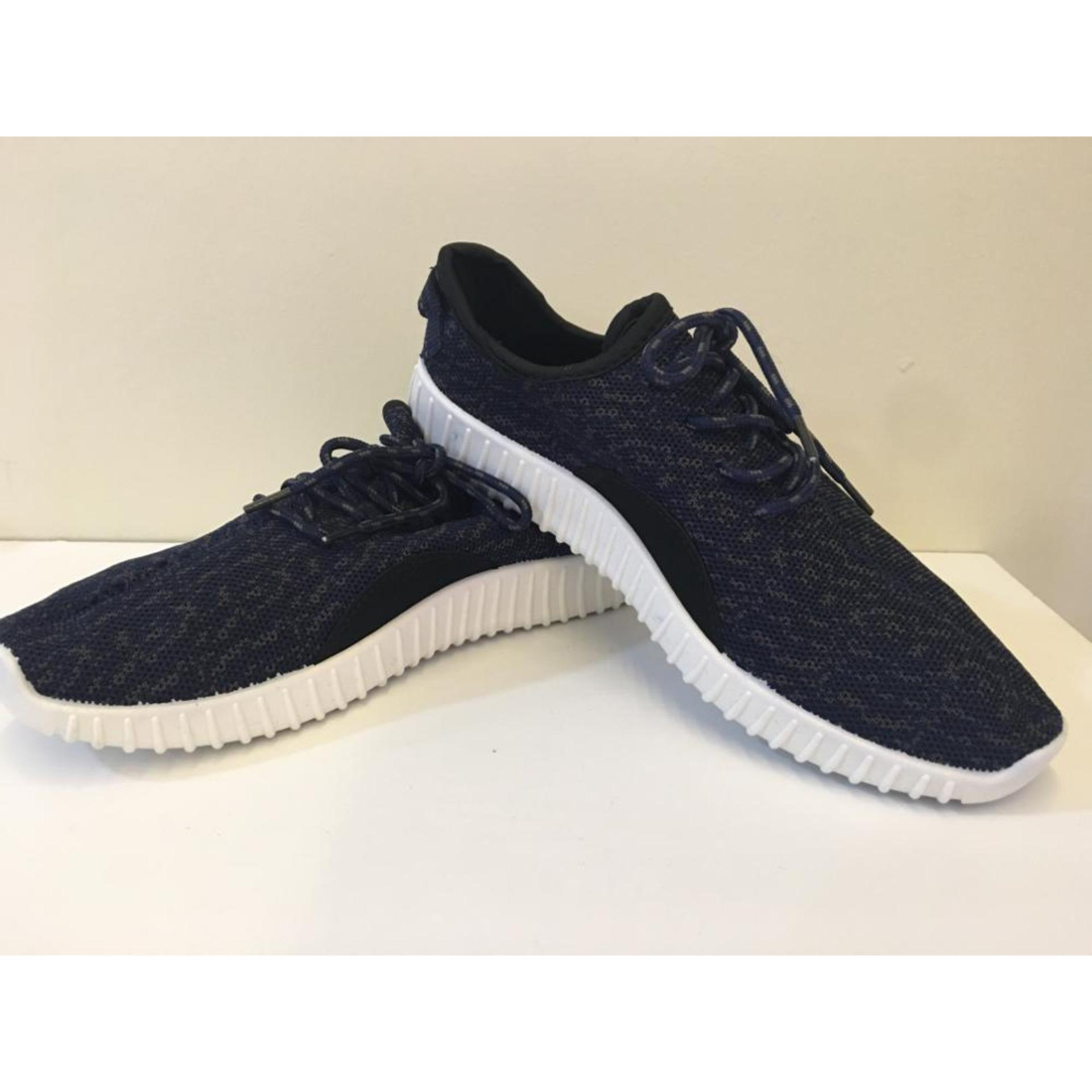 Sneakers Pria Import Korea - Navy Blue