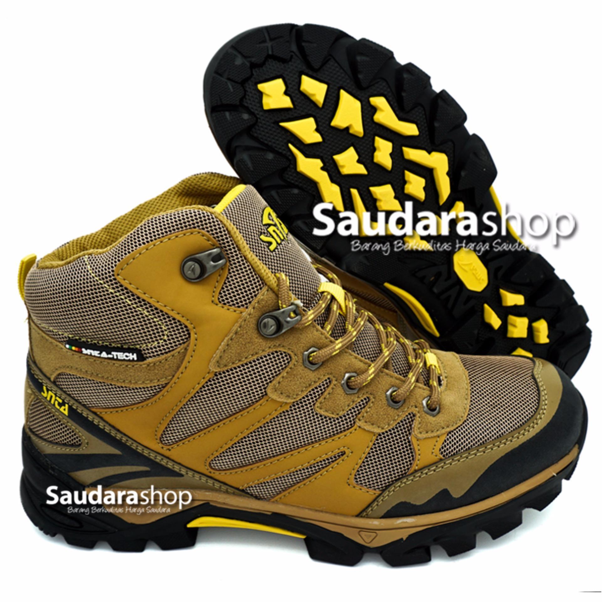 Spek Snta 478 Sepatu Gunung Sepatu Hiking Sepatu Outdoor Brown Yellow