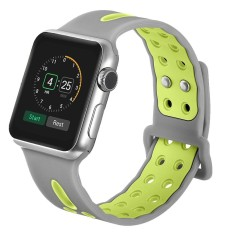 SOBUY 38mm/42mm Soft Silicone Watch Band for Apple Watch, Kobwa Quick Release Ventilation Holes Breathable Replacement Sport Bracelet Strap for Apple Watch Series 1 Series 2 Nike+ - intl
