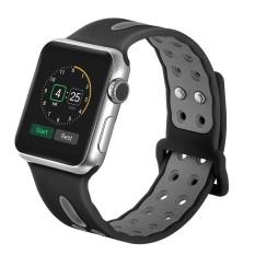Sobuy 38 Mm/42 Mm Lembut Silikon Jam Tangan Tali untuk Apple Jam Tangan, kobwa Cepat Melepaskan Lubang Ventilasi Bernapas Penggantian Olahraga Gelang Tali untuk Apple Seri 1 Seri 2 Nike +- internasional