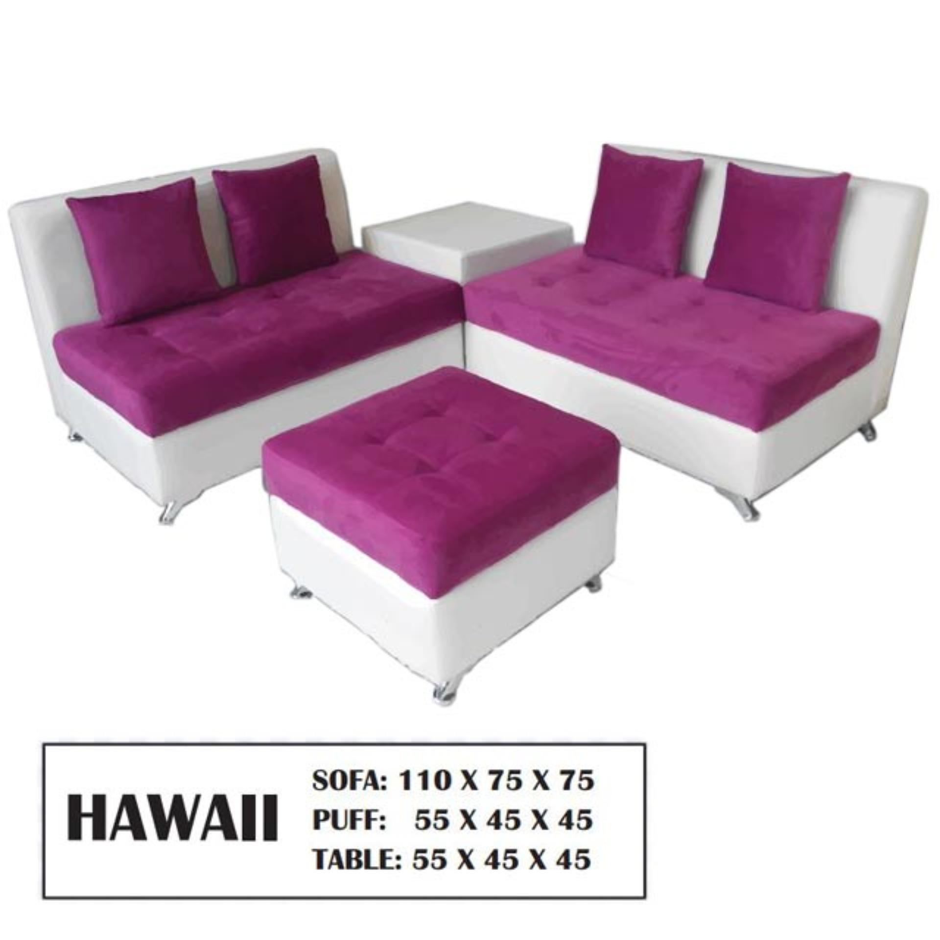 SOFA KEVIN HAWAII 2.2.PUFF + MEJA SUDUT