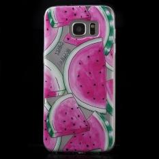 Lembut IMD TPU Cover Shell untuk Samsung Galaxy S7 Edge SM-G935-Semangka Pola