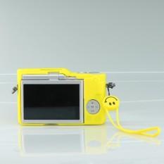 Lembut Silikon Pelindung Badan Kulit Tas Sarung untuk Pana Sonik Lumix DMC-GF9 GF9 Kamera + Tangan Tali-Internasional