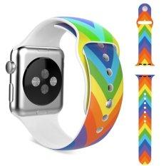 Promo Olahraga Silikon Lembut Tali Pengikat To Apple Watch 42Mm Semua Model Warna Pelangi Di Tiongkok